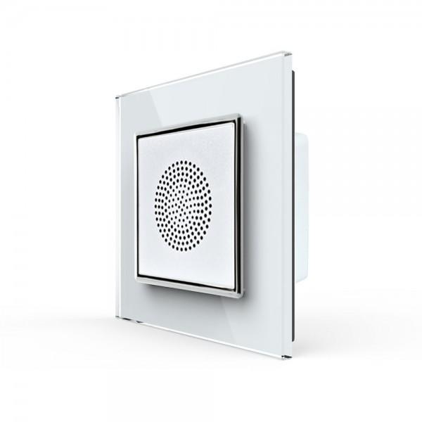 LIVOLO Bluetooth Lautsprecher für Unterputz inkl. Glasrahmen VL-C7-LY-03-11 Weiss