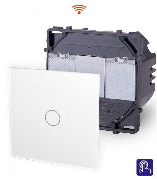 POINT Innenleben WLAN Lichtschalter 1 Fach Smart WiFi Glas Touch Weiß PWM1-11