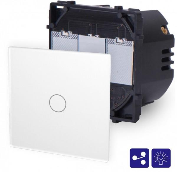 POINT Touchsreen Wechseldimmer 1 Fach Modul in Weiß P-701SD-11