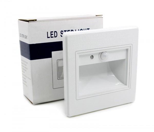 LED Innen Treppenbeleuchtung IR Infrarot mit Bewegungsmelder 1W Leuchte Weiß 10x