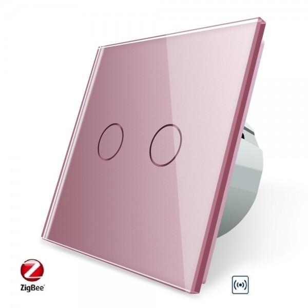 LIVOLO ZigBee Smart Wechselschalter / Kreuzschalter VL-C702SZ-17 Pink