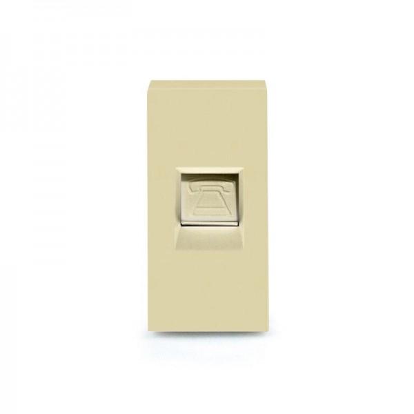 LUX Telefon 1/2 Modul in Gold LX-TEL-13