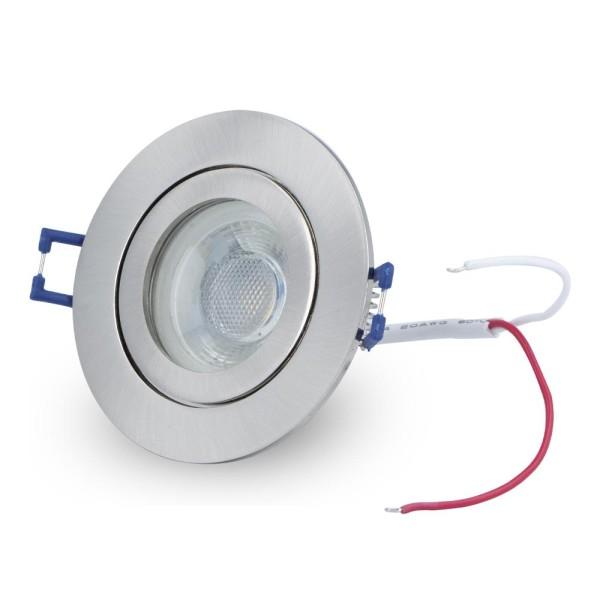 LED Einbaustrahler dimmbar kalt weiß IP44 Decken Spots LED-5W-Cold-Silver in Silber A+