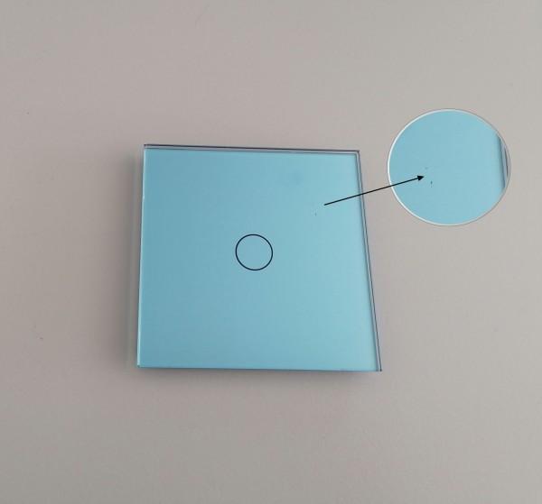 LIVOLO B-WAREN Abverkauf Restposten Glasblenden Module kaum Makel Günstiger Sale Blende: VL-C7-C1-19 Blau Nr. 180