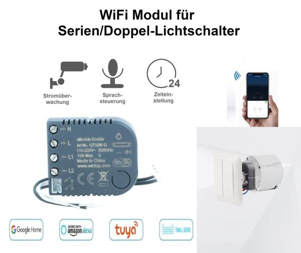 WiFi Modul für Serien/Doppel -Lichtschalter eModul-Double Smart Home Sprachsteuerung Alexa Google Ho