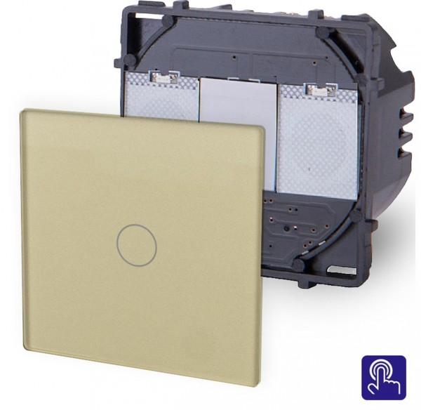 POINT Touchsreen Lichtschalter 1 Fach Modul in Gold P-701-13