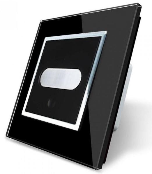 LIVOLO Bewegungsmelder Sensorschalter Touch Glasrahmen VL-C7-01RG-12 Schwarz