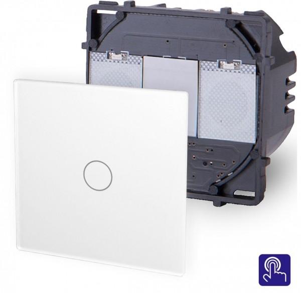 POINT Touchsreen Taster 1 Fach Modul in Weiß P-701B-11