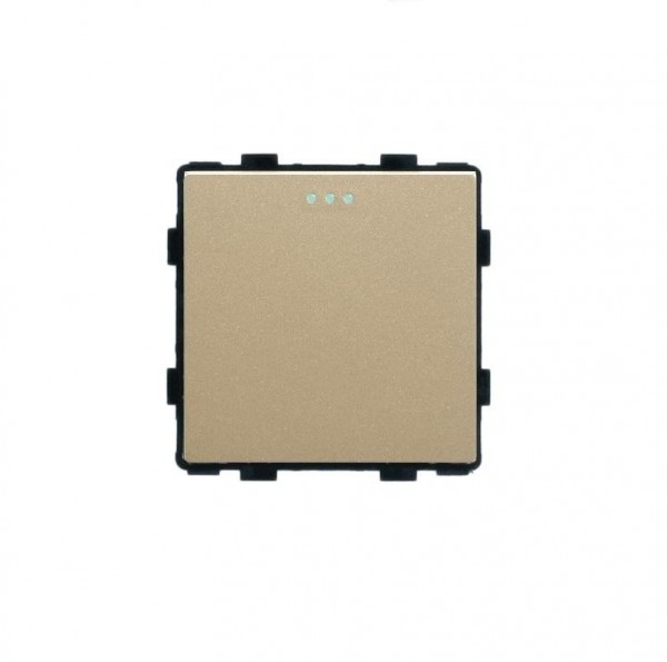 LUX Wipp Kreuzschalter Modul 1 Fach in Gold LX-103-13