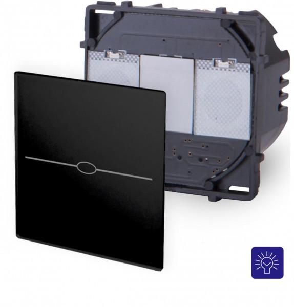 LUX Touchscreen Modul schwarz Dimmer 1 fach LX-701D-12