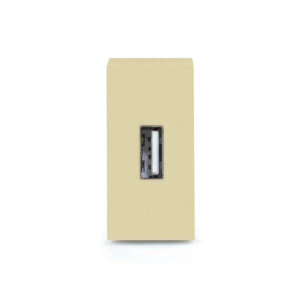 LUX USB Datendose 1/2 Modul in Gold X-Datendose-13