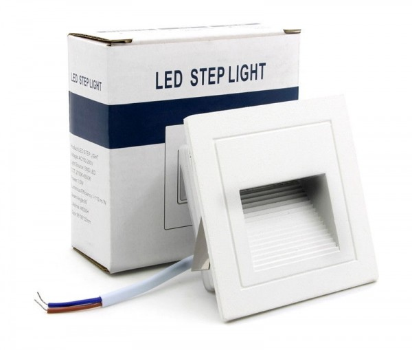 LED Außen Treppenbeleuchtung IP65 Schutz 3W für AUSSEN Außenleuchte Leuchte Weiß