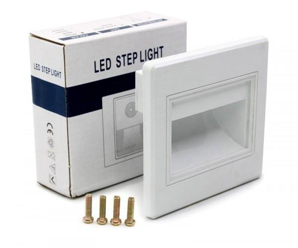 5x LED Treppenbeleuchtung 1W für INNEN Einbauleuchte Leuchte Weiß