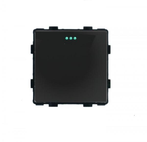 LUX Wipp Taster Lichtschalter Modul 1 Fach in Schwarz LX-101B-12
