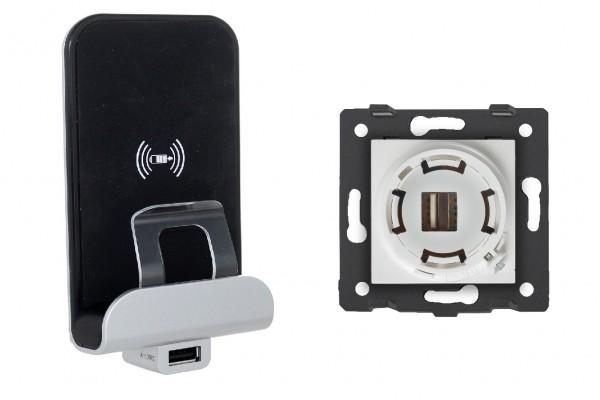 Wireless inductions Charger USB Ladegerät LXX03-Charger Innenleben Weiß