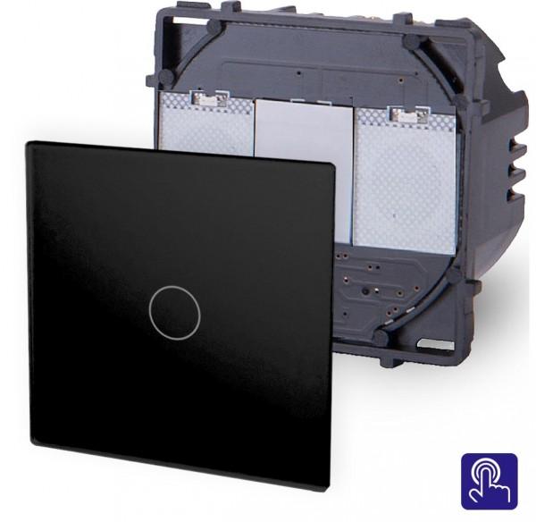 POINT Touchscreen Lichtschalter 1 Fach Modul in Schwarz P-701-12