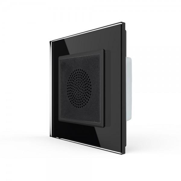 LIVOLO Bluetooth Lautsprecher für Unterputz inkl. Glasrahmen VL-C7-LY-03-12-A Schwarz