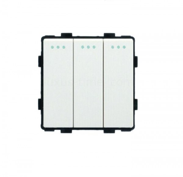 LUX Wipp Lichtschalter Modul 3 Fach in Weiß LX-103M-11
