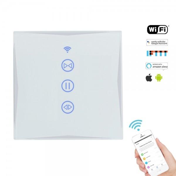 Smart Rolladenschalter WLAN APP Touch Google Home Amazon Alexa HL0607-11 Weiß