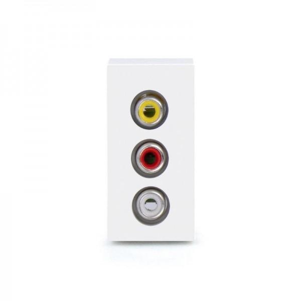 LUX Audio 1/2 Modul in Weiß LX-Audio-11