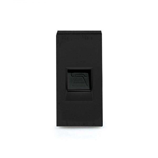 LUX Telefon 1/2 Modul in Schwarz LX-TEL-12