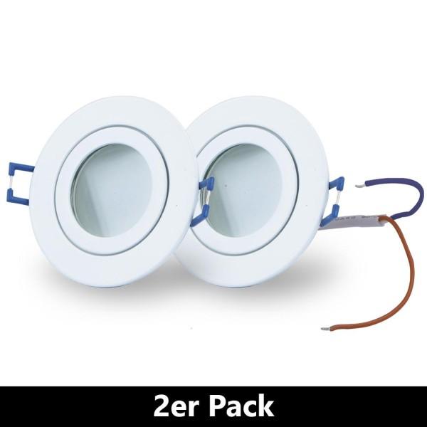 LED Einbaustrahler (2 er Pack) Decken Spots zum Vorteilspreis - Warm Weiß A+