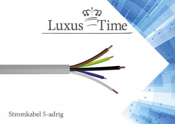 NYM-J 5x2,5 / 5x1,5 mm Elektro Installationsleitung 1-500m Mantelleitung Kabel 5 Adrig - NYM-J-5x1.5mm-500-Meter