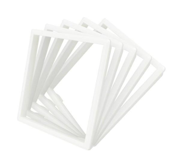 5 x Rahmen in Weiss für Livolo Steckdosen
