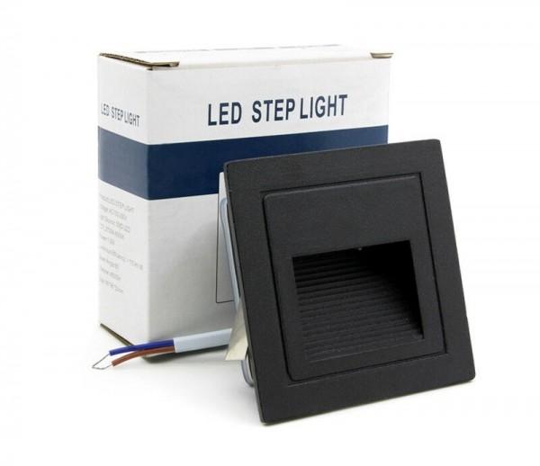 10x LED Außen Treppenbeleuchtung IP65 Schutz 3W für AUSSEN Außenleuchte Leuchte Schwarz-