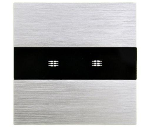 M3 Lichtschalter Ein Aus für zwei Leuchten Wandschalter Alurahmen mit Glas LX-702-M302-11