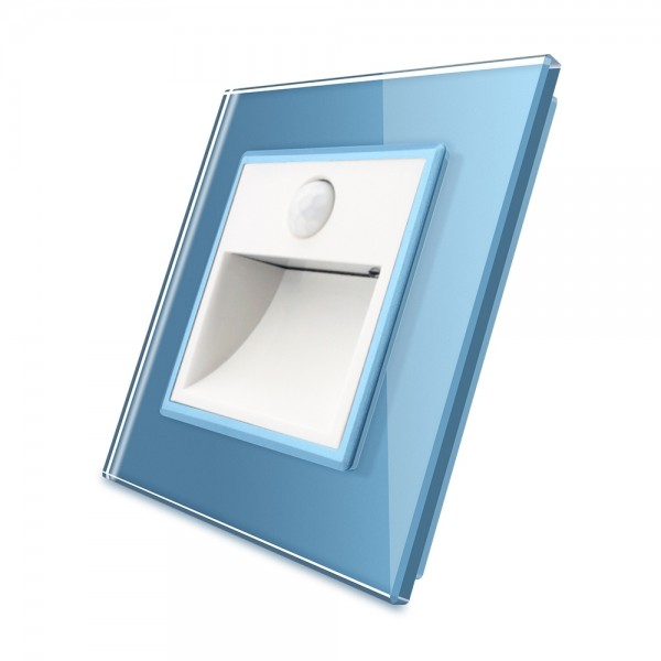 Treppenbeleuchtung mit Bewegunsmelder inkl. Glasblende in Blau VL-C7-TBW-11-VL-C7-SR-19