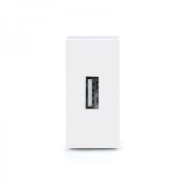 LUX USB Datendose 1/2 Modul in Weiß LX-Datendose-11