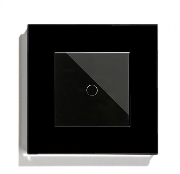 POINT Touchscreen Funkschalter inkls. Glas Rahmen (Nebenstelle/Slave) 1 Fach schwarz P-MT101-12
