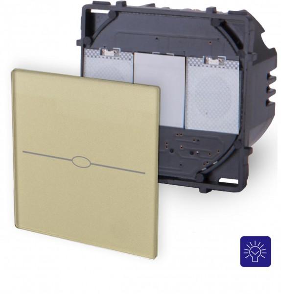 LUX Touchscreen Modul 1 Fach Dimmer Gold LX-701D-13