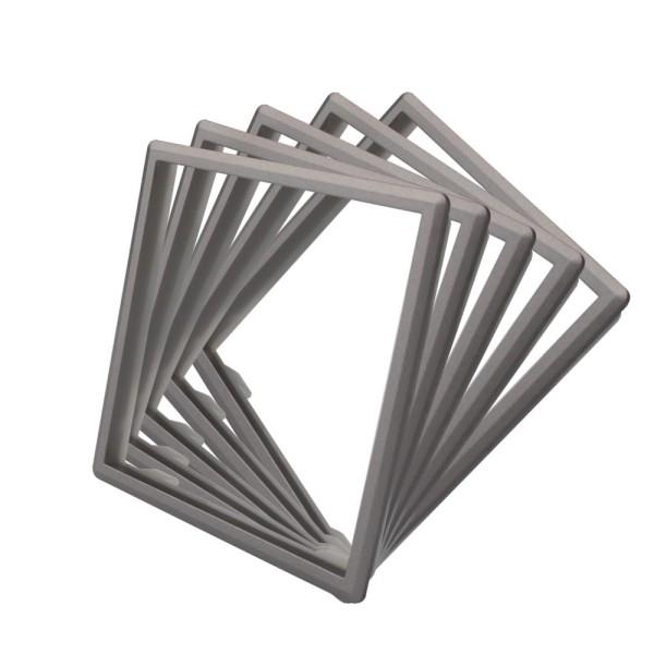 LIVOLO 5 x Rahmen in Grau für Livolo Steckdosen