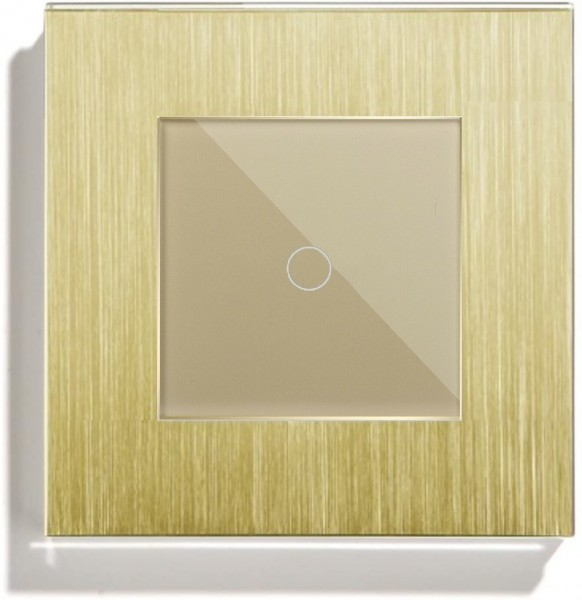 POINT Touchscreen Funkschalter inkls. Alu Rahmen (Nebenstelle/Slave) 1 Fach gold P-MT101-13