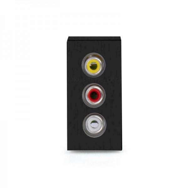 LUX Audio 1/2 Modul in Schwarz LX-Audio-12