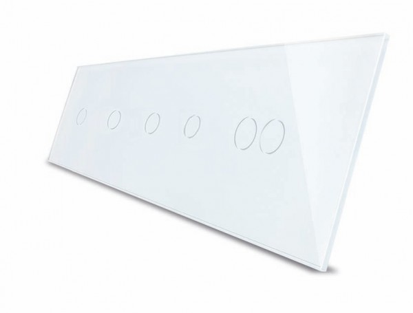LIVOLO Nur Glasblende 5 Fach VL-C7-C1/C1/C1/C1/C2-11-A Weiß