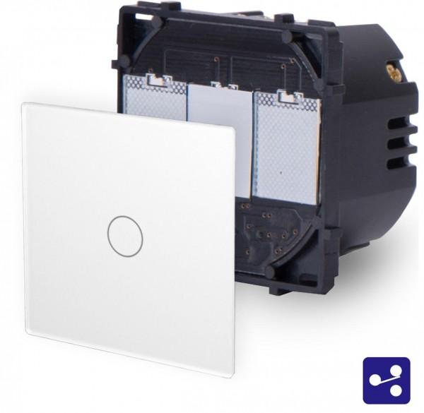 POINT Touchsreen Wechsel/Kreuzschalter 1 Fach Modul in Weiß P-701S-11