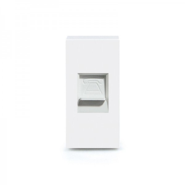 LUX Telefon 1/2 Modul in Weiß LX-TEL-11