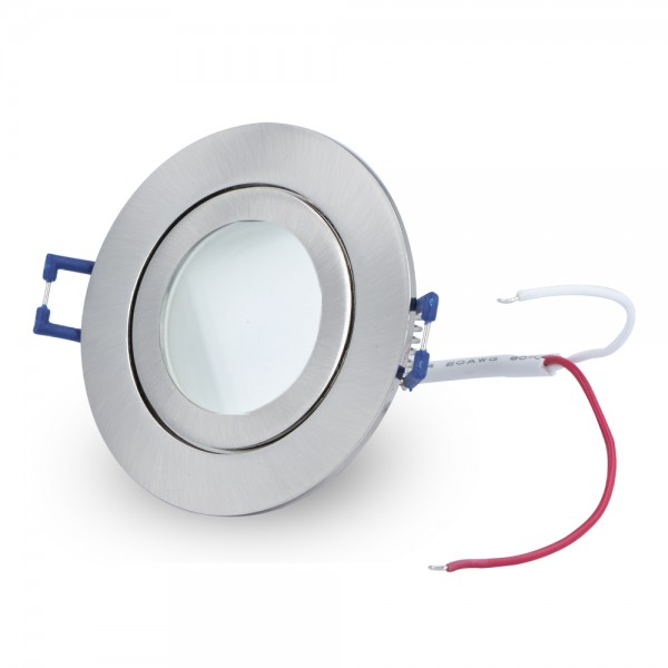 LED Einbaustrahler dimmbar warm weiß IP44 Decken Spots LED-5W-Warm-Silver in Silber A+