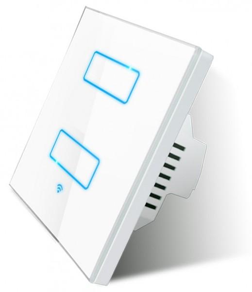 Smart Touch 2 Fach Lichtschalter WLAN Sprachsteuerung LanbonHS2