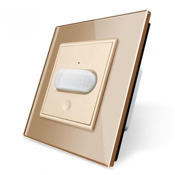 LIVOLO Bewegungsmelder Sensorschalter Touch Glasrahmen VL-C7-01RG-13 Gold
