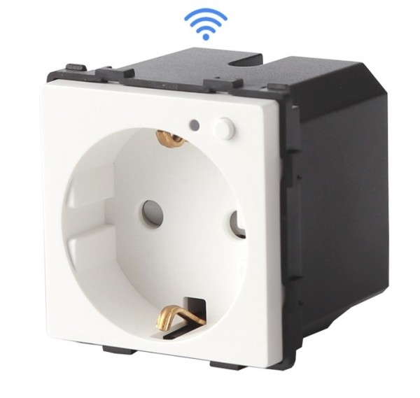LUX WiFi Smart Steckdose Modul PWMS-11 Weiß Smarthome Alexa