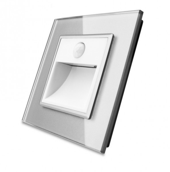 Treppenbeleuchtung mit Bewegunsmelder inkl. Glasblende in Grau VL-C7-TBW-11-VL-C7-SR-15